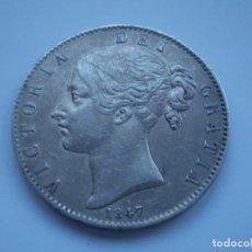 Monedas antiguas de Europa: 89SCF15 GRAN BRETAÑA UK VICTORIA 1847 CORONA PLATA SILVER CROWN ANNO REGNI XI. Lote 277298733
