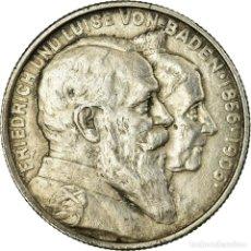 Monedas antiguas de Europa: [#656890] MONEDA, ESTADOS ALEMANES, BADEN, FRIEDRICH I, 2 MARK, 1906, MBC+, PLATA, KM:276. Lote 277306323