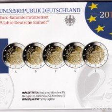 Monedas antiguas de Europa: ALEMANIA:SET OFICIAL 2 EURO ALEMANIA 2015 - 25 ANIVERSARIO REUNIFICACIÓN ALEMANA. Lote 277494448
