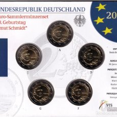 Monedas antiguas de Europa: ALEMANIA: SET OFICIAL 2 EURO 2018 CENTENARIO DEL NACIMIENTO DE HELMUT SCHMIDT. Lote 277495213