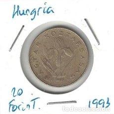 Monedas antiguas de Europa: MONEDAS - HUNGRIA - 20 FORINT 1993. Lote 277644988
