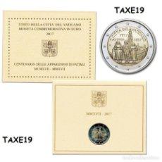 Monedas antiguas de Europa: VATICANO 2017 CARTERA OFICIAL MONEDA 2 EUROS CONMEMORATIVA CENTENARIO APARICION VIRGEN DE FATIMA. Lote 278329008