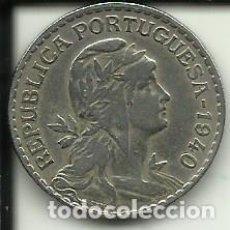Moedas antigas da Europa: 1 ESCUDO PORTUGAL - 1940 - FOTOS. Lote 278503138
