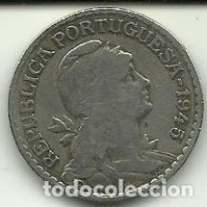 Moedas antigas da Europa: 1 ESCUDO PORTUGAL - 1945 - FOTOS. Lote 278503293