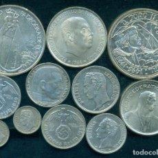 Monedas antiguas de Europa: PORTUGAL, ESPAÑA, VENEZUELA, ALEMANIA III REICH, SUIZA - LOTE DE 11 MONEDAS DE PLATA DIFERENTES. Lote 279380303