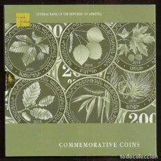 Monedas antiguas de Europa: ARMENIA. ESTUCHE OFICIAL CON 6 X 200 DRAM 2014. S/C. HOJAS DE ARBOLES LOCALES.. Lote 279457693