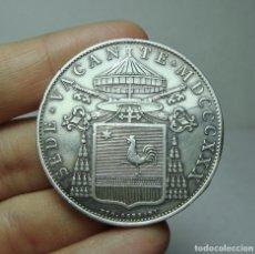 Monedas antiguas de Europa: 1 ESCUDO. PLATA. ESTADOS PONTIFICIOS. SEDE VACANTE. ROMA - 1830. Lote 279514688