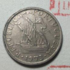 Monedas antiguas de Europa: 2 1/2 ESCUDOS PORTUGAL 1973. Lote 280118748