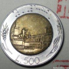 Monedas antiguas de Europa: 500 LIRAS ITALIA 1990. Lote 280119028