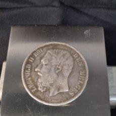 Monedas antiguas de Europa: MONEDA DE PLATA 5 FRANCOS 1875 LEOPOLDO II BELGICA. Lote 284780203