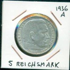 Monnaies anciennes de Europe: ALEMANIA III REICH - 5 REICHAMARK DE PLATA AÑO 1936 A. Lote 286323923