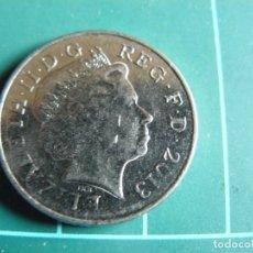Monnaies anciennes de Europe: MONEDA DE GRAN BRETAÑA 10 PENCES 2013. Lote 286508393