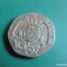 Monnaies anciennes de Europe: MONEDA DE GRAN BRETAÑA 20 PENCE 1987. Lote 286508478