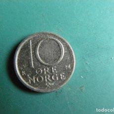Monnaies anciennes de Europe: MONEDA DE NORUEGA 10 ORES 1986. Lote 286528928