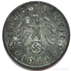 Monete antiche di Europa: ⚜️ A2217. 1944 A. 1 REICHSPFENNIG. NAZI III REICH. SUBASTA TODO ALEMANIA. Lote 286745383