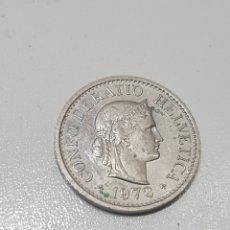 Monnaies anciennes de Europe: MONEDA SUIZA CONFOEDERATIO HELVETICA 10 RAPPEN 1972. Lote 286768213