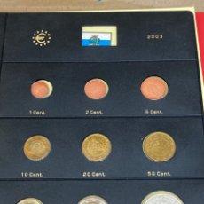 Monedas antiguas de Europa: COLECCIÓN DE MONEDAS SAN MARINO 2003 10€-10€-2€-1€-0,50€-0,20€-0,10€-0,05€-0,02€-0,01€. Lote 287243743