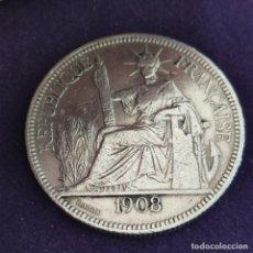 Monedas antiguas de Europa: MONEDA INDO CHINA FRANCESA. PIASTRA DE COMERCIO. 27GR PLATA 900. MUY BONITA.. Lote 287311483