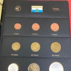 Monedas antiguas de Europa: COLECCIÓN DE MONEDAS SAN MARINO 2008 10€-10€-2€-1€-0,50€-0,20€-0,10€-0,05€-0,02€-0,01€. Lote 287248103