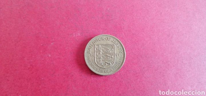 1/4 DE CHELIN DE JERSEY 1957 (Numismática - Extranjeras - Europa)