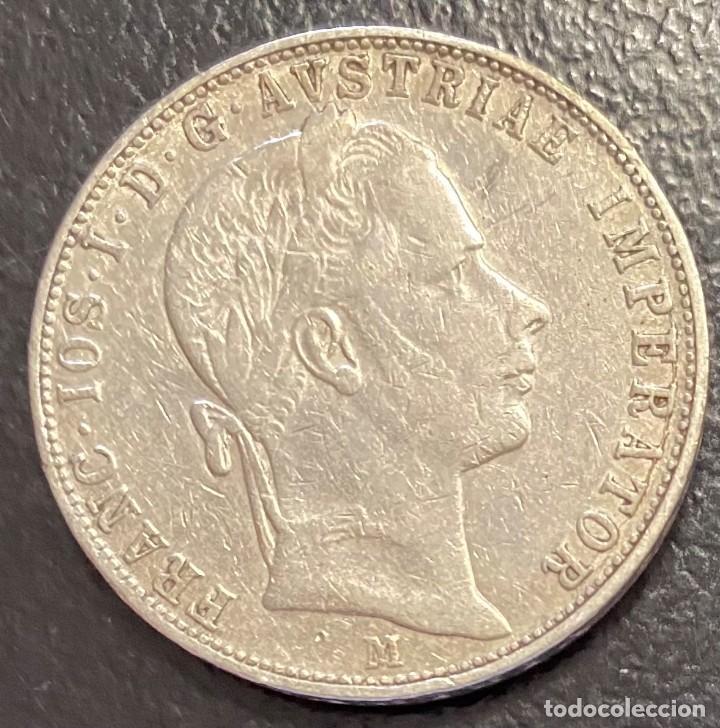 AUSTRIA, MONEDA DE PLATA DE 1 FLORIN, AÑO 1858M (Numismática - Extranjeras - Europa)