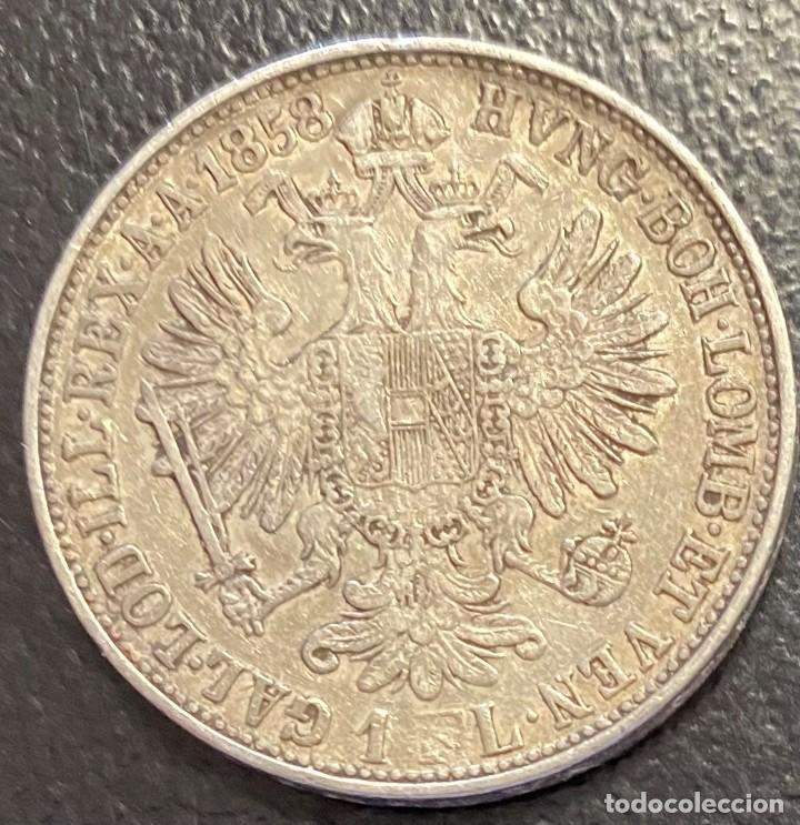 Monedas antiguas de Europa: AUSTRIA, MONEDA DE PLATA DE 1 FLORIN, AÑO 1858M - Foto 2 - 287678688