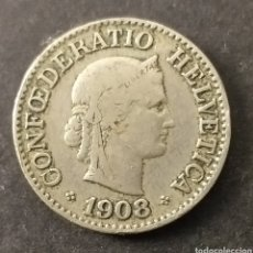 Monedas antiguas de Europa: MONEDA 10 CENTIMOS SUIZA AÑO 1908. Lote 287689698