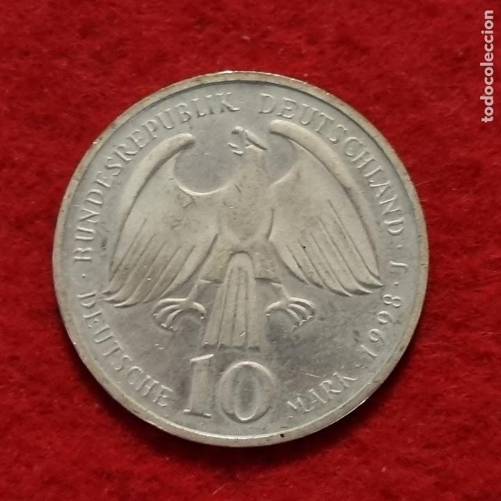 Monedas antiguas de Europa: MONEDA PLATA ALEMANIA 10 MARCOS 1998 EBC ORIGINAL C8 - Foto 2 - 287914038