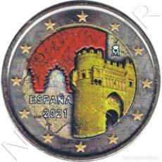 Monnaies anciennes de Europe: ESPAÑA 2 EURO 2021 MULTICOLOR PUERTA DEL SOL DE TOLEDO MOD. O. Lote 288070243