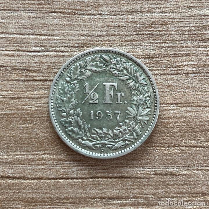 Monedas antiguas de Europa: 1/2 franc 1957 Suiza - Foto 2 - 288142158