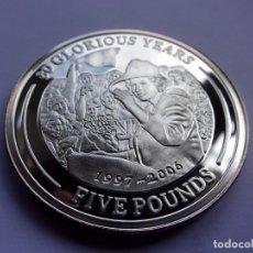Monedas antiguas de Europa: 33SCK16 GIBRALTAR 80 AÑOS DE LA REINA ISABEL II 5 LIBRAS DE PLATA ESTERLINA PROOF 2006. Lote 288223428