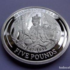 Monedas antiguas de Europa: 35SCK16 GIBRALTAR 80 AÑOS DE LA REINA ISABEL II 5 LIBRAS DE PLATA ESTERLINA PROOF 2006. Lote 288224198