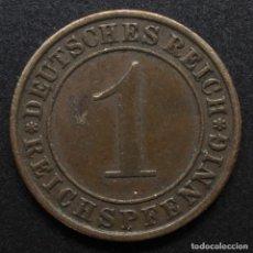 """Monedas antiguas de Europa: ALEMANIA, 1 REICHSPFENNIG 1934 - CECA """"A"""" – BERLIN. Lote 288302873"""