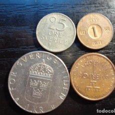 Monnaies anciennes de Europe: LOTE DE 4 MONEDAS DE SUECIA. Lote 288437558