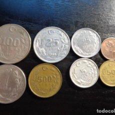 Monnaies anciennes de Europe: LOTE DE 8 MONEDAS DE TURQUIA. Lote 288437843