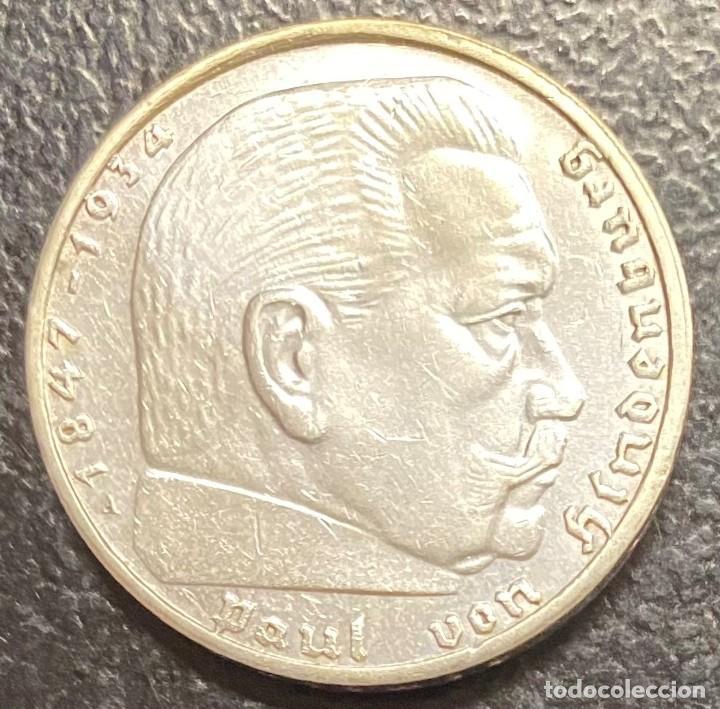 ALEMANIA, MONEDA DE 2 REICHSMARK, AÑO 1939A (Numismática - Extranjeras - Europa)