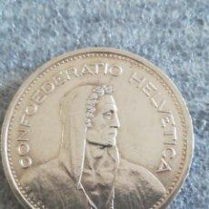 Monedas antiguas de Europa: ANTIGUA MONEDA 5 FRANCS SUIZA 1953 PLATA. Lote 288863548
