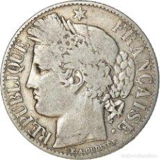Monedas antiguas de Europa: [#887328] MONEDA, FRANCIA, CÉRÈS, FRANC, 1888, PARIS, BC+, PLATA, KM:822.1, GADOURY:465A. Lote 289214468