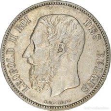 Monedas antiguas de Europa: [#371874] MONEDA, BÉLGICA, LEOPOLD II, 5 FRANCS, 5 FRANK, 1868, BRUSSELS, MBC, PLATA. Lote 289214563