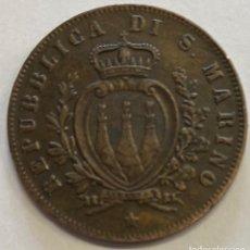 Monedas antiguas de Europa: SAN MARINO, MONEDA DE 5 CENTESIMI, AÑO 1869 M. Lote 289214653