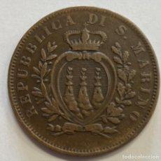 Monedas antiguas de Europa: SAN MARINO, MONEDA DE 10 CENTESIMI, AÑO 1875. Lote 289215048