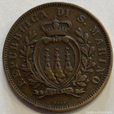 Monedas antiguas de Europa: SAN MARINO, MONEDA DE 10 CENTESIMI, AÑO 1893. Lote 289215338