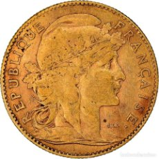 Monedas antiguas de Europa: [#181206] MONEDA, FRANCIA, MARIANNE, 10 FRANCS, 1908, PARIS, MBC, ORO, KM:846. Lote 289227823