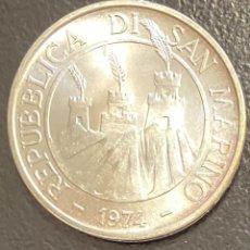 Monedas antiguas de Europa: SAN MARINO, MONEDA DE DE PLATA 500 LIRAS, AÑO 1974. Lote 289227993