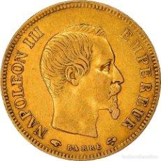 Monedas antiguas de Europa: [#181202] MONEDA, FRANCIA, 10 FRANCS, 1855, PARIS, MBC, ORO, GADOURY:1014. Lote 289228733