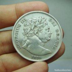 Monedas antiguas de Europa: 1/2 CORONA. PLATA. GEORGIUS III. INGLATERRA - 1816. Lote 289344613