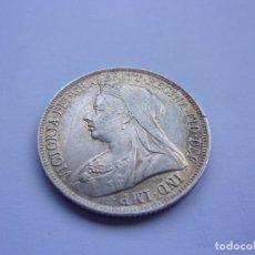 Monedas antiguas de Europa: 3SCC14 REINO UNIDO VICTORIA CHELÍN DE PLATA 1895. Lote 289367793