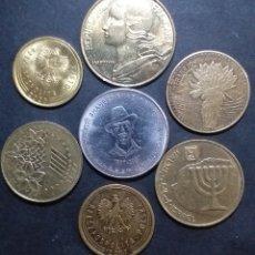 Monedas antiguas de Europa: LOTE DE 7 MONEDAS DE DISTINTOS PAÍSES DISTINTAS FECHAS DISTINTOS VALORES. Lote 289368378