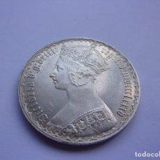 Monedas antiguas de Europa: 6SCC14 REINO UNIDO VICTORIA FLORÍN GÓTICO DE PLATA 1885. Lote 289370583