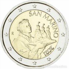 Monedas antiguas de Europa: SAN MARINO 2 EUROS-ORIGINAL-AÑO 2021- SIN CIRCULAR -ENCAPSULADA-. Lote 289374738